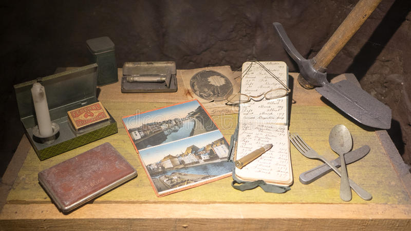 A soldiers belongings royalty free stock photography