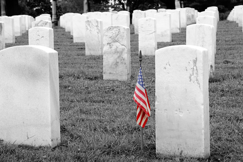 Soldiers Grave - Selective Colorization stock images