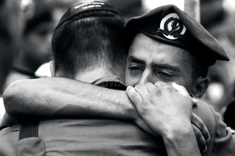 Download Soldiers grief editorial image. Image of action, israel - 33244460