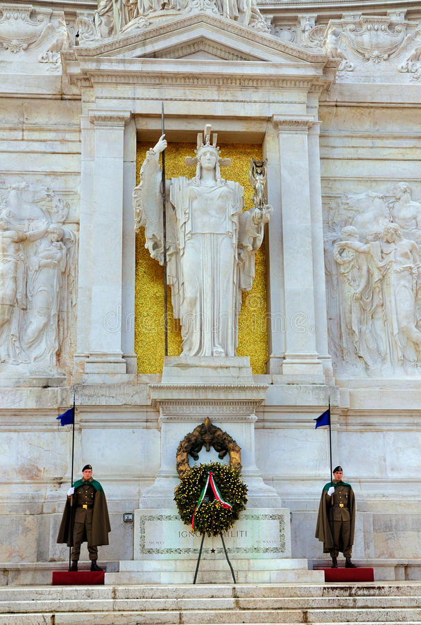 Soldiers Guarding the Tomb of the Unknown Soldier stock image