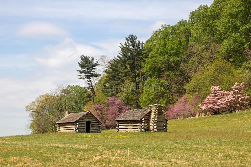 Soldiers Huts at Valley Forge stock image
