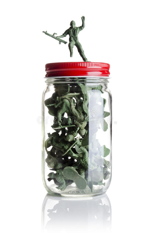 Download Soldiers in a jar stock photo. Image of fighter, soldier - 35365760