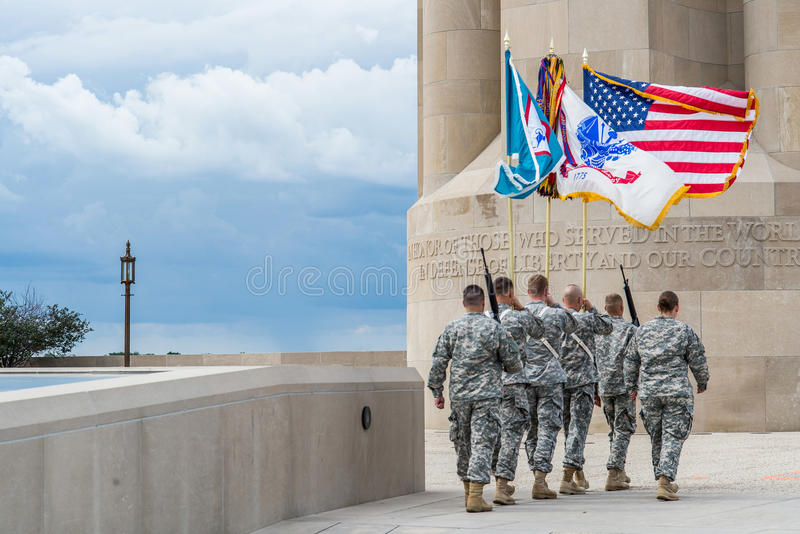 Soldiers marching taps royalty free stock images