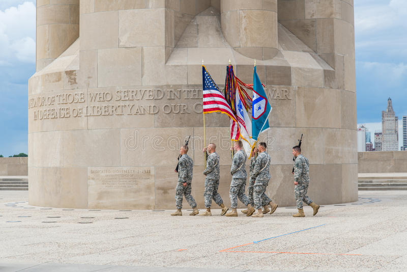 Soldiers marching taps royalty free stock photos