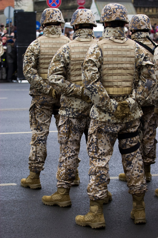 Download Soldiers At The Military Parade Stock Photo - Image: 3656380