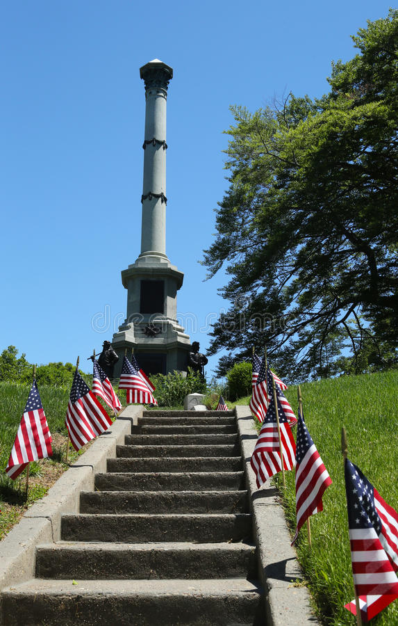 Download Soldiers Monument At The Battle Hill At The Green-Wood Cemetery In Brooklyn Editorial Image - Image: 31479900