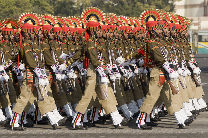 Soldiers on Parade royalty free stock photo