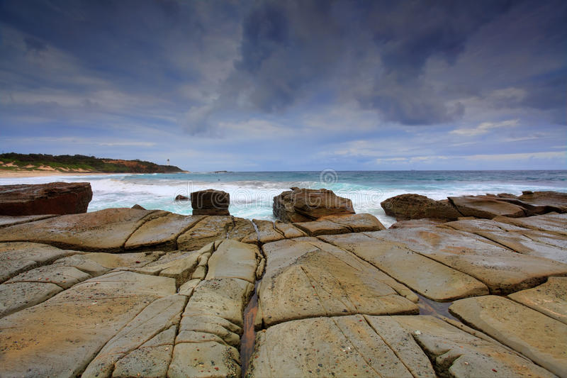 Soldiers Point Norah Head. View from Soldiers Point to Norah Head, Australia stock photos