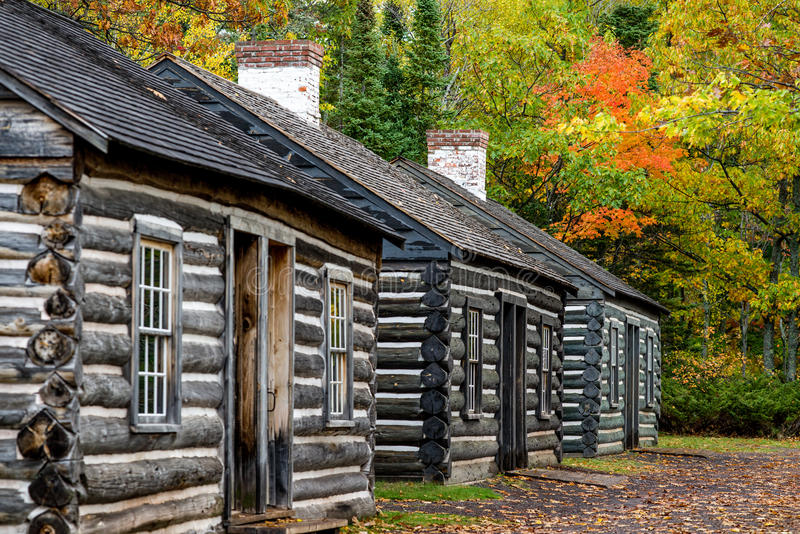 Soldiers quarters, fort wilkins. A row of soldiers quarters at fort wilkins state park, upper peninsula michigan royalty free stock images