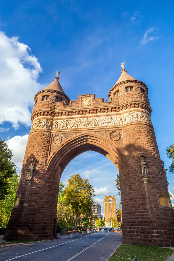 Soldiers and Sailors Memorial Arch in Hartford. Soldiers and Sailors Memorial Arch in Hartford, Connecticut commemorating the Civil War royalty free stock photography