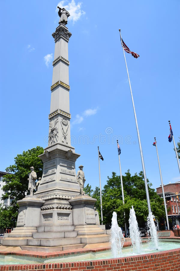 Soldiers and Sailors Monument in Easton Pennsylvania royalty free stock images