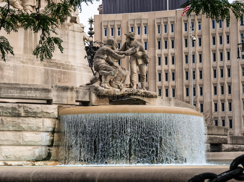 Soldiers' and Sailors' Monument in Indianapolis stock photography