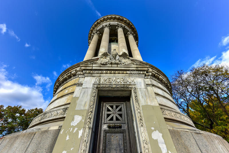 Soldiers and Sailors Monument - NYC. The Soldiers` and Sailors` Memorial Monument in Riverside Park in the Upper West Side of Manhattan, New York City stock photography