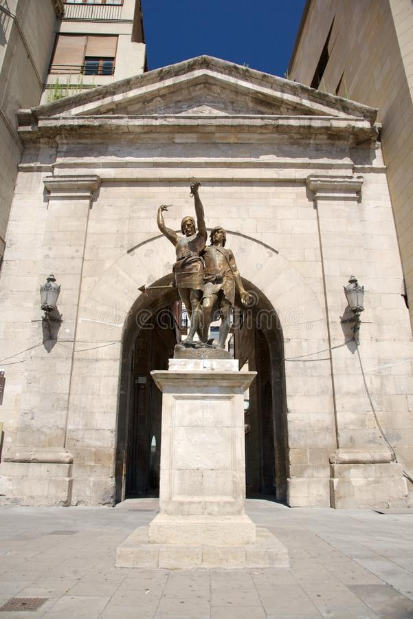 Download Soldiers Sculpture At Lleida Stock Image - Image: 20066185