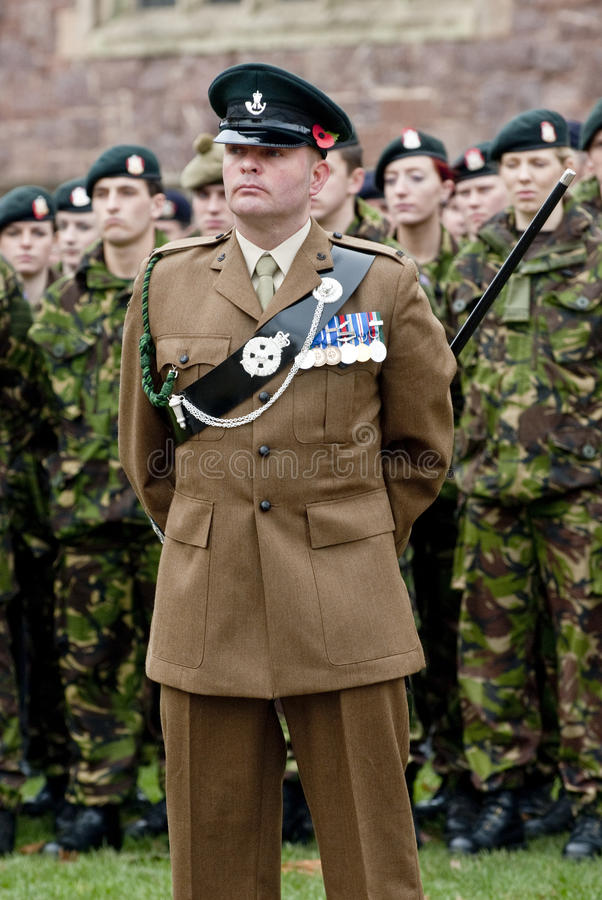 Download Soldiers Stand To Atention A The Rememberance Day Editorial Photo - Image: 24068771