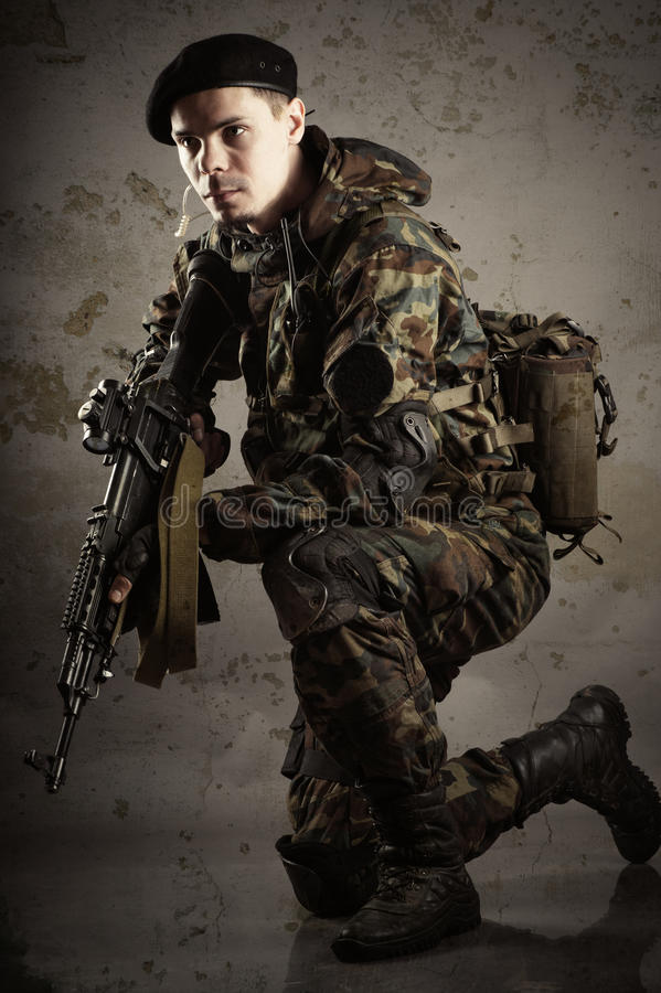 Soldiers in uniform royalty free stock images