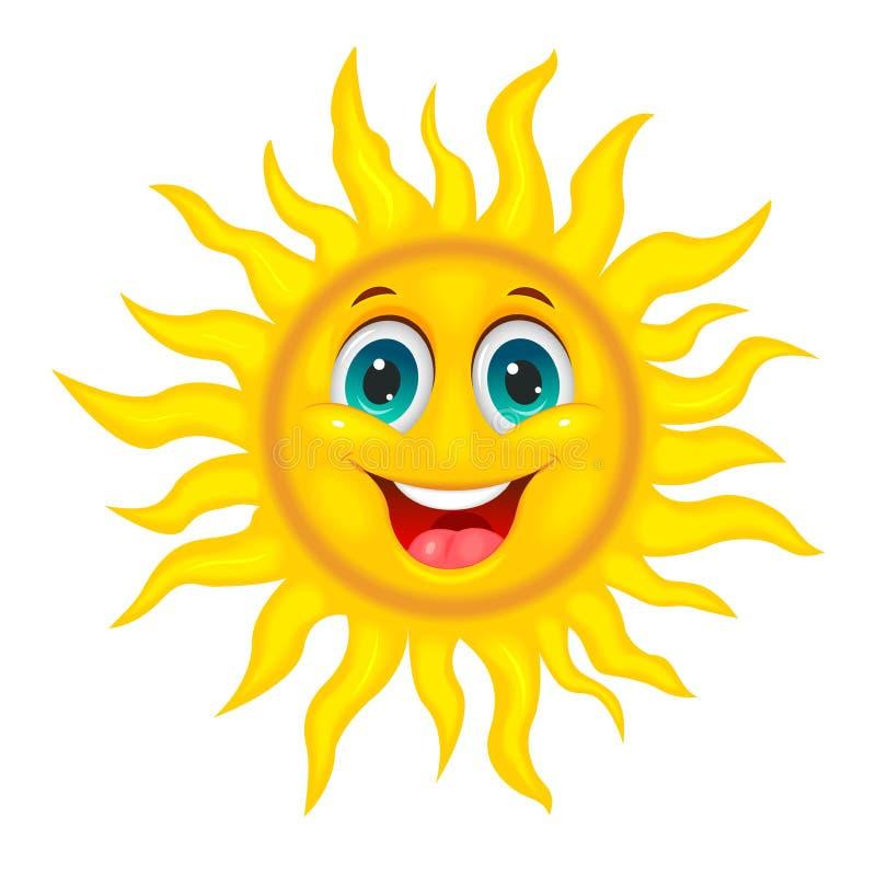 Sole allegro sorridente royalty illustrazione gratis