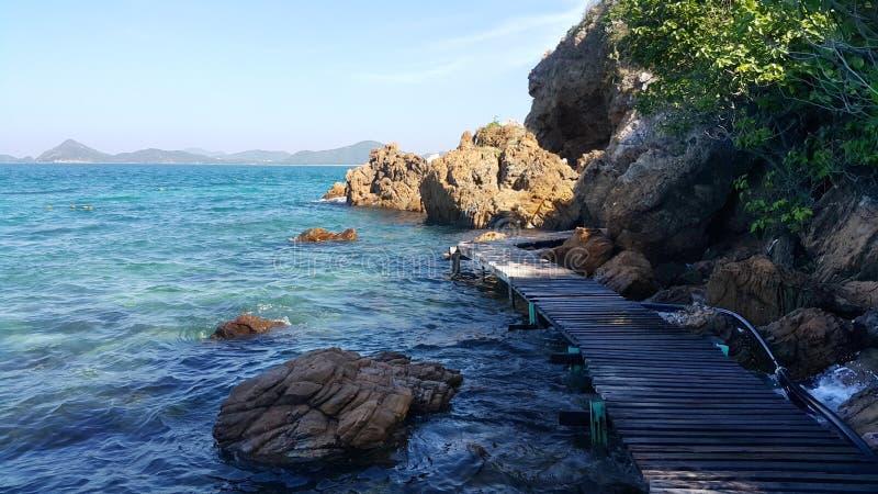 Sole del mare della roccia immagine stock libera da diritti