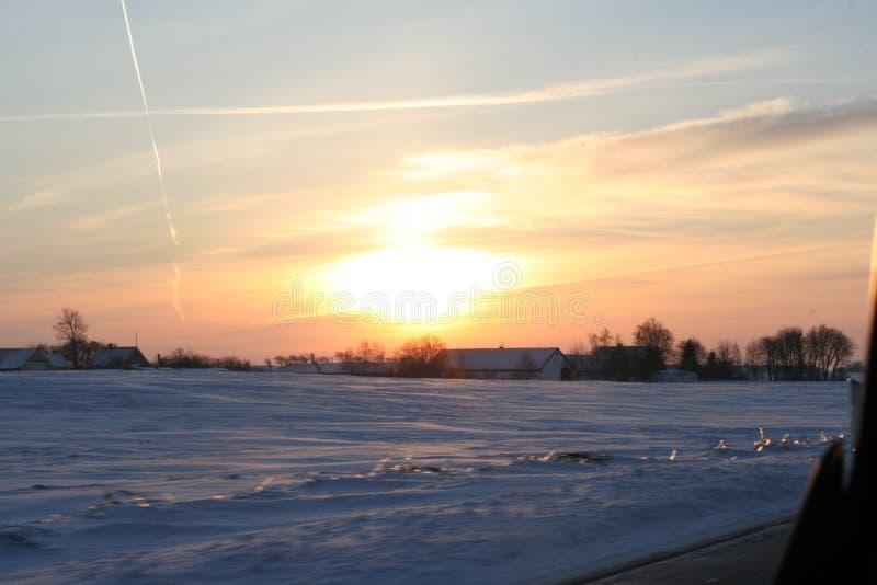 Sole della neve giù fotografie stock libere da diritti