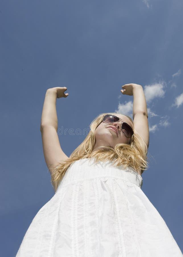 Sole della ragazza dell'adolescente fotografia stock