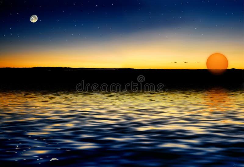 Sole della stella della luna illustrazione vettoriale