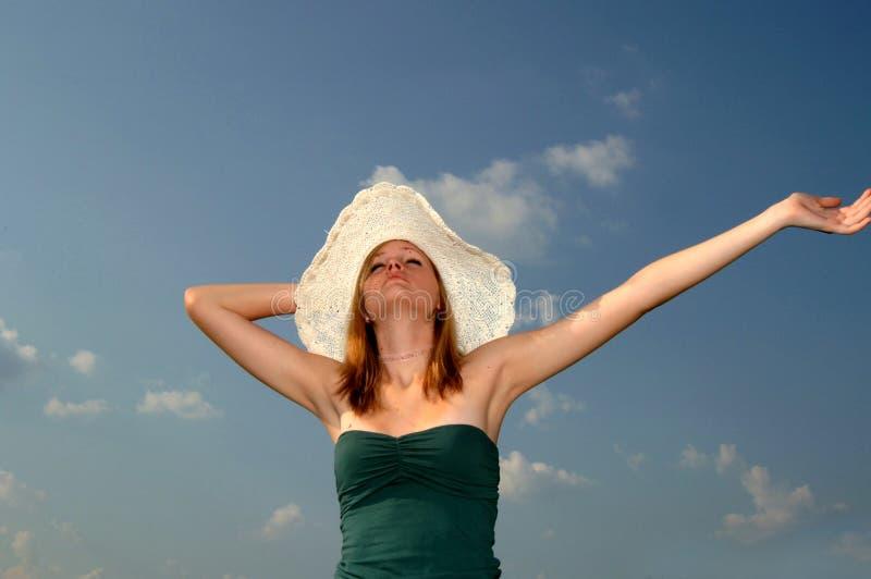 Sole di estate di tatto fotografia stock libera da diritti