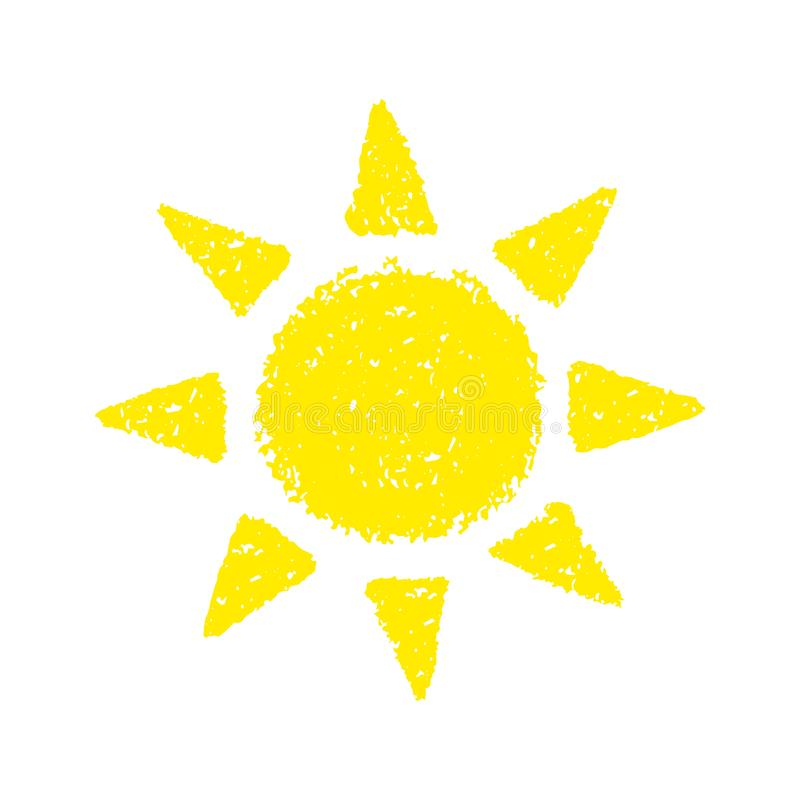 Sole disegnato a mano illustrazione vettoriale