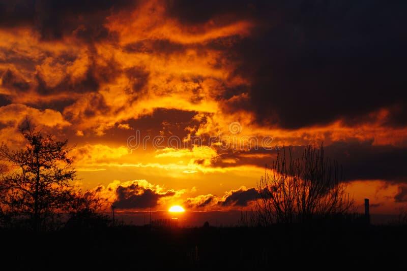 Sole dopo le tempeste fotografie stock libere da diritti