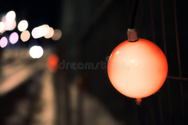 Sole elettrico della città di notte fotografia stock libera da diritti