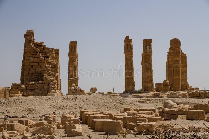 Soleb świątynia Sudan fotografia stock