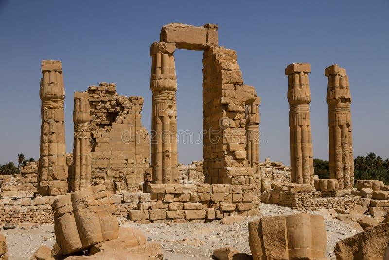 Soleb świątynia Sudan zdjęcie royalty free