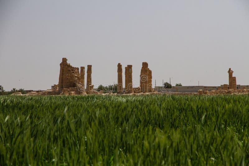Soleb Świątynny Sudan z naprzeciw pola obrazy royalty free