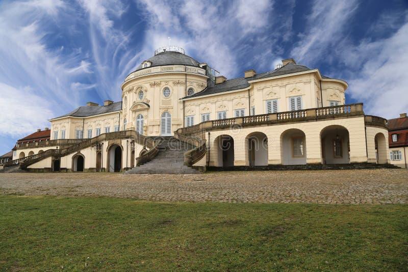 Soledad del castillo en Stuttgart, Alemania fotografía de archivo libre de regalías