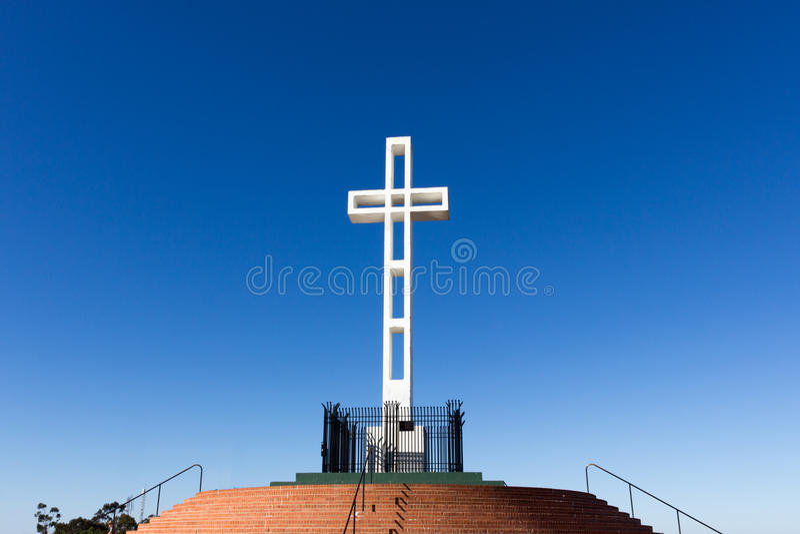 Soledad Mountain Memorial Cross photo libre de droits