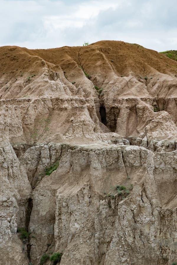 Soledad rugosa de los Badlands imagenes de archivo