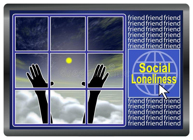 Soledad social ilustración del vector