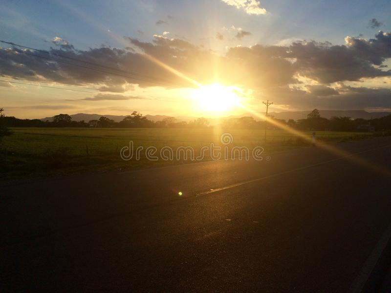 Soleil chez Sébaco, Nicaragua photos libres de droits