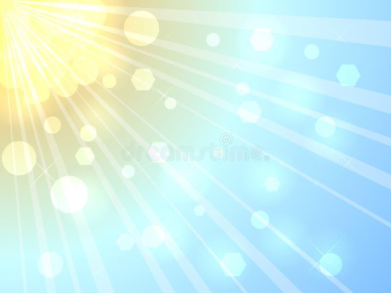Soleil d'été illustration de vecteur