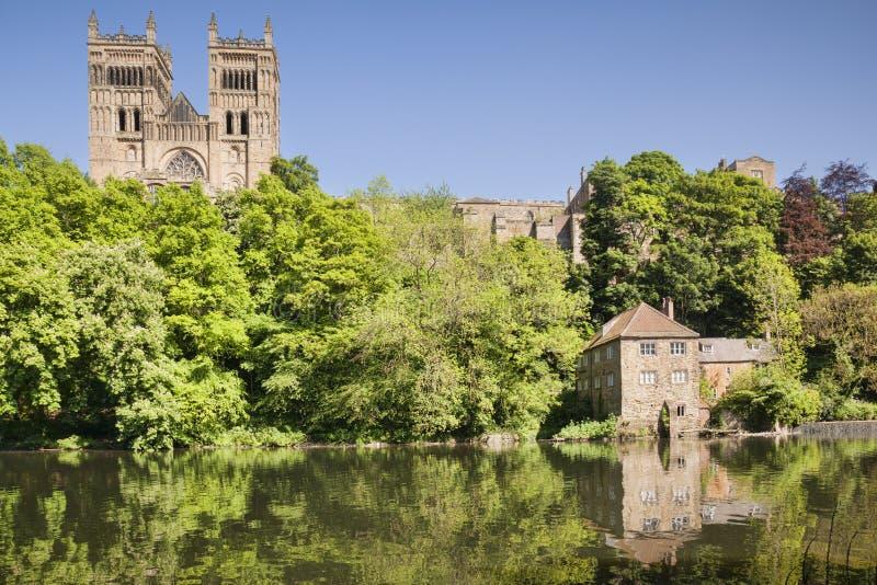 Soleil de cathédrale de Durham photo libre de droits