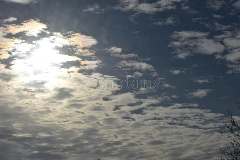 Soleil flou photographie stock libre de droits