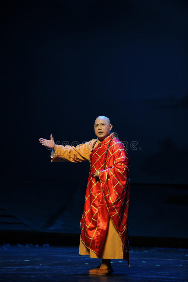 Solemn preside over- Jiangxi opera a steelyard. Jiangxi opera a steelyard is adapted from a true story: the last century fortys, the protagonists father runs an stock photo