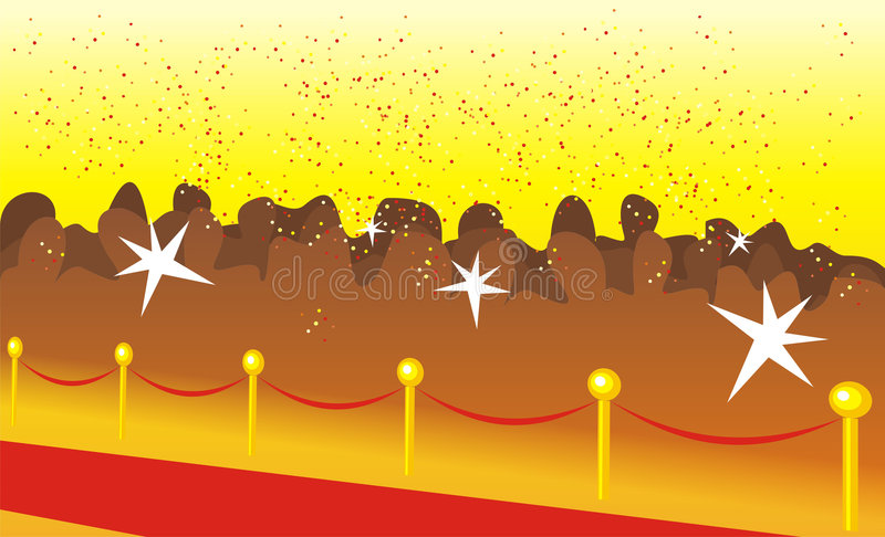 Download Solemn red path stock vector. Image of solemn, happiness - 3795590