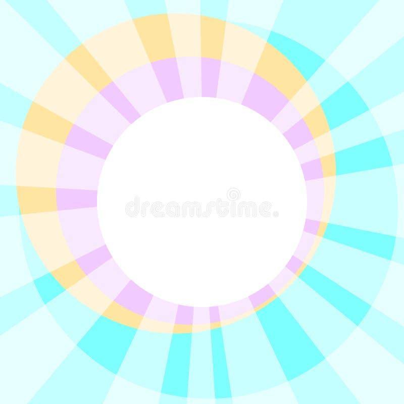Solen Rays nattvardsgångrånet stock illustrationer