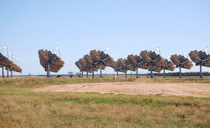 Solenergi Carwarp Australien arkivfoto