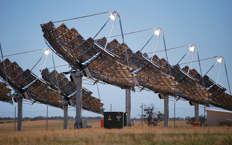 Solenergi Carwarp Australien arkivbild
