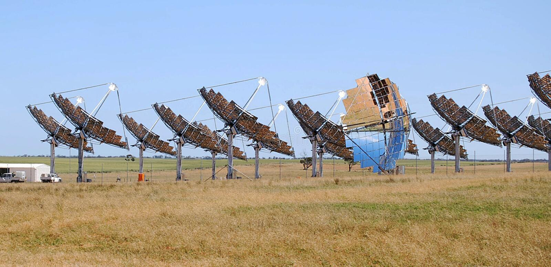Solenergi Carwarp Australien royaltyfri foto