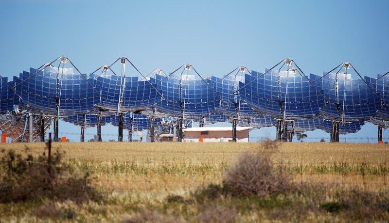 Solenergi Carwarp Australien royaltyfria foton