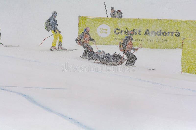 Solenoide alpino eccellente 2016 dell'en di EL 28 de febrero de di de Audi FIS Ski World Cup Women di combinado di EL del durante immagine stock