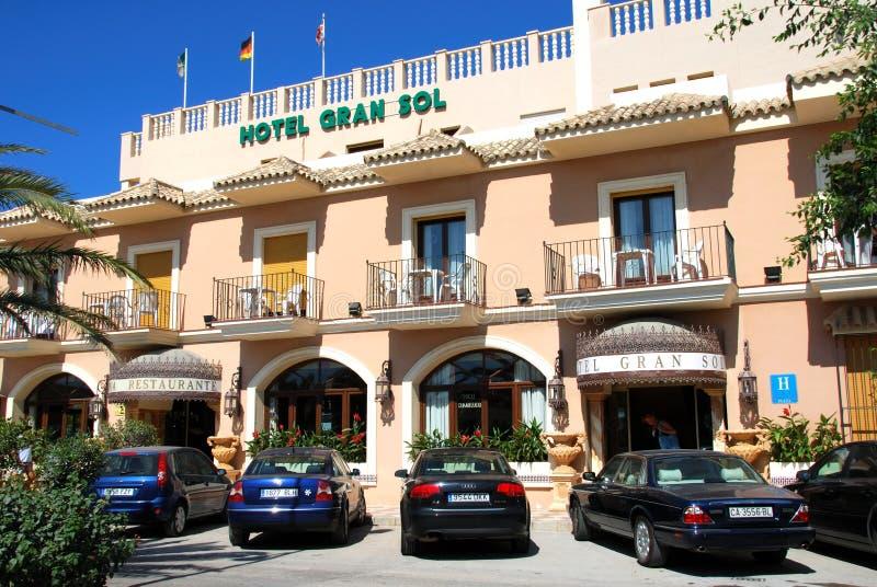 Solenoide de Gran do hotel, Zahara de los Atunes, Espanha imagens de stock