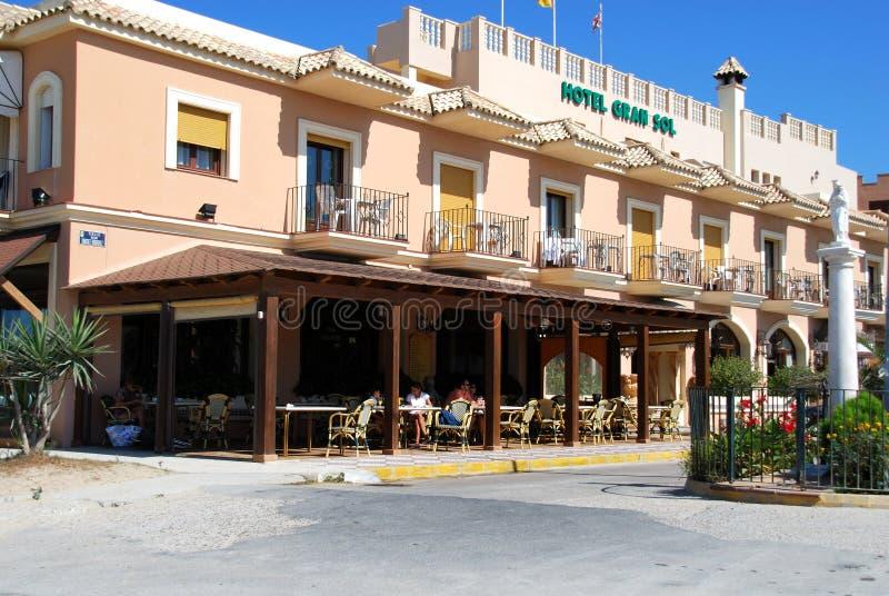 Solenoide de Gran do hotel, Zahara de los Atunes, Espanha imagem de stock royalty free